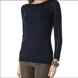 Rachel Zoe L Karla Navy Blue Sweater Cozy Knit